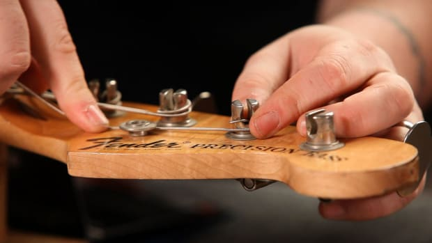 P. How to String a Fender Bass Guitar Promo Image