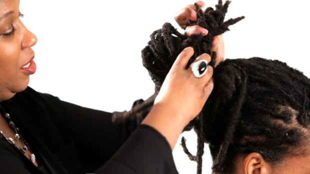 W. How to Do a Dreads Twisted Knot Hairstyle Promo Image