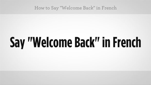"ZZA. How to Say ""Welcome Back"" in French Promo Image"