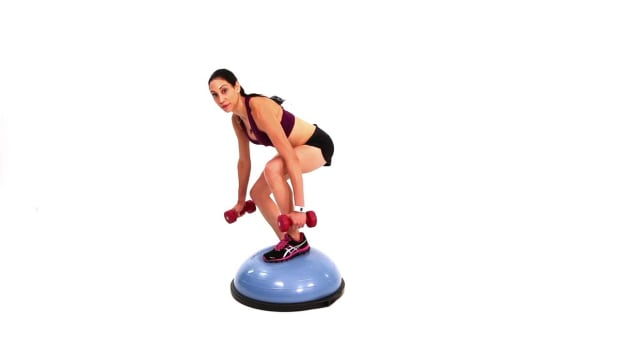 ZE. How to Do a Squat & Over-the-Top Combo Using Bosu Ball Promo Image