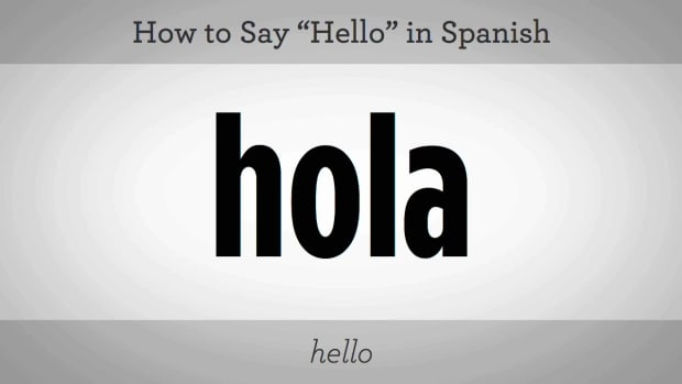 "ZO. How to Say ""Hello"" in Spanish Promo Image"