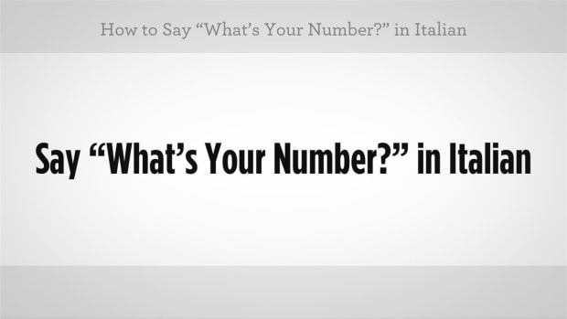 "ZZZC. How to Say ""What's Your Number"" in Italian Promo Image"