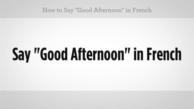 "I. How to Say ""Good Afternoon"" in French Promo Image"