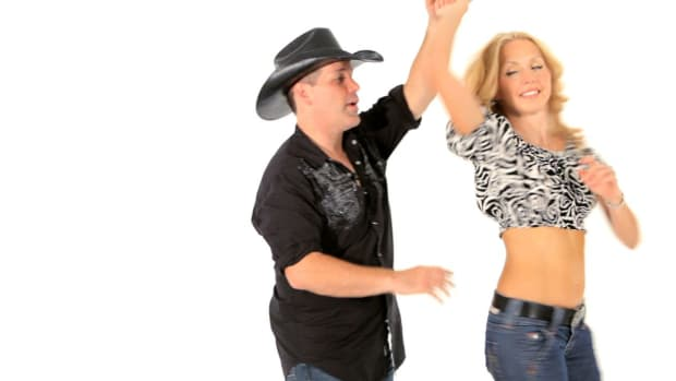 ZI. How to Do a Basic Ladies Outside Turn in Line Dancing Promo Image