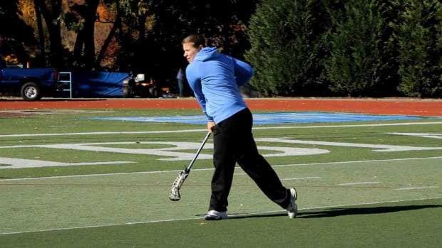J. How to Throw a Long Pass in Women's Lacrosse Promo Image