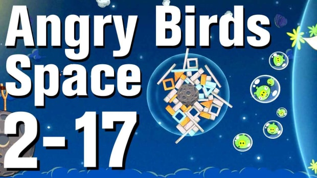 ZU. Angry Birds: Space Walkthrough Level 2-17 Promo Image