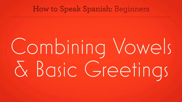 ZZZA. How to Combine Vowels & Basic Greetings in Spanish Promo Image