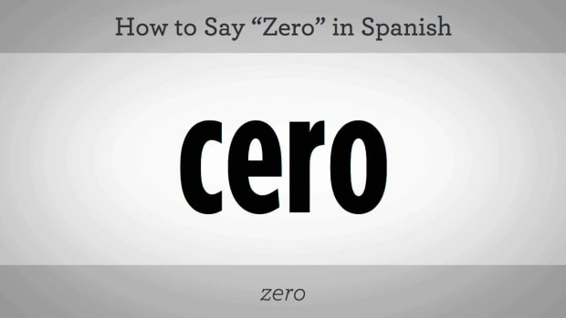 "J. How to Say ""Zero"" in Spanish Promo Image"