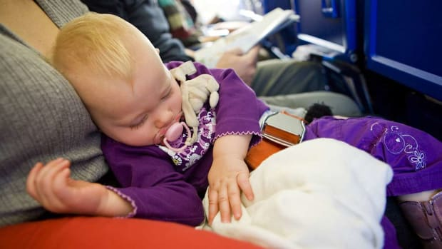 Q. Top 3 Safety Tips for Flying with a Baby in Your Lap Promo Image