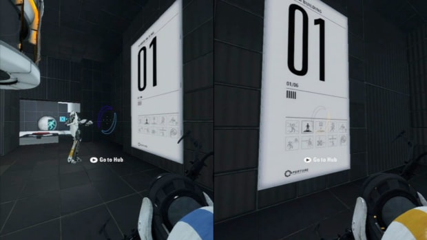 ZZI. Portal 2 Co-op Walkthrough / Course 1 - Part 1 - Room 01/06 Promo Image