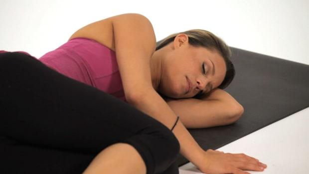 S. How to Do a Corpse Yoga Pose (Savasana) Promo Image
