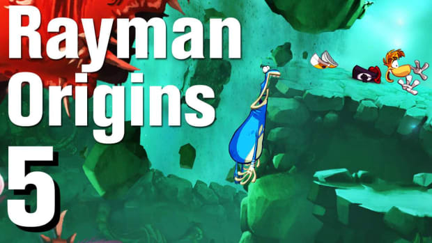 E. Rayman Origins Walkthrough 1-5: Swinging Caves Promo Image
