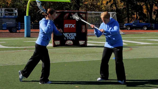 U. How to Split Dodge in Women's Lacrosse Promo Image