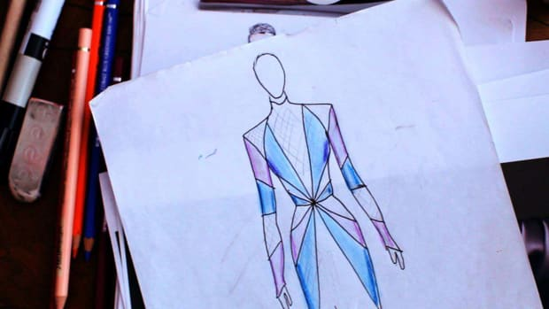 M. How to Add Color, Texture & Shadows to a Fashion Sketch Promo Image