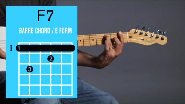 ZZZZL. How to Play an F7 Barre Chord on Guitar Promo Image