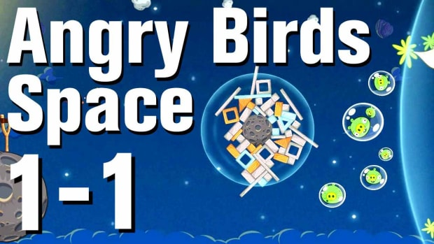 A. Angry Birds: Space Walkthrough Level 1-1 Promo Image