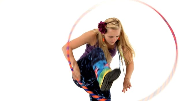 P. How to Do a Hula Hoop Vertical Step Through Promo Image