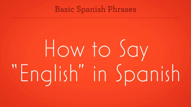 "ZR. How to Say ""English"" in Spanish Promo Image"