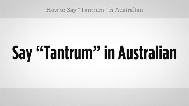 "M. How to Say ""Tantrum"" in Australian Slang Promo Image"