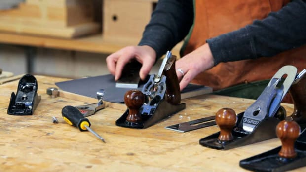E. How to Sharpen Woodworking Blade When Tuning Up Hand Plane Promo Image