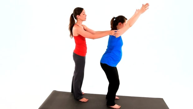 ZD. How to Do Prenatal Yoga Chair Pose for a Pregnancy Workout Promo Image