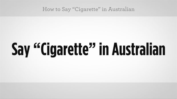 "H. How to Say ""Cigarette"" in Australian Slang Promo Image"