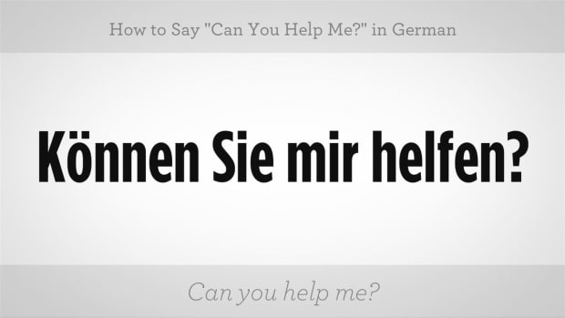 "ZZA. How to Say ""Can You Help Me?"" in German Promo Image"
