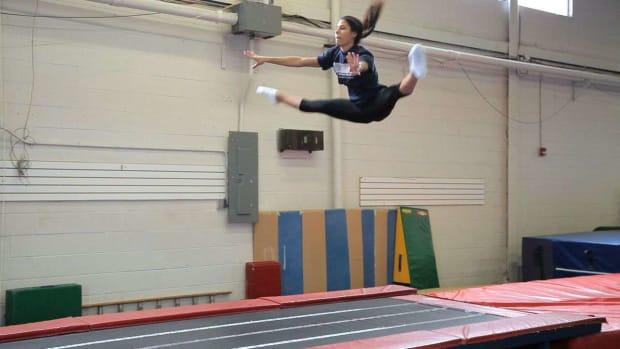 T. Gymnastics Tumbling Drills Promo Image