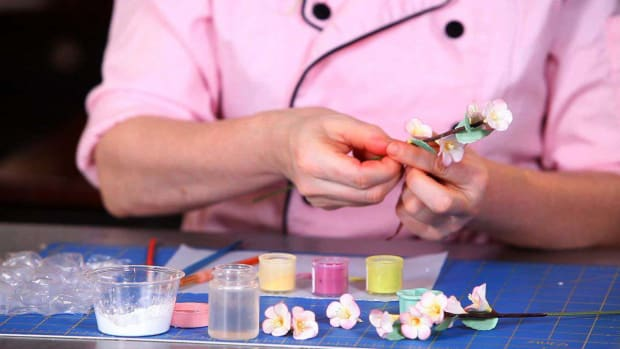 K. How to Paint a Sugar Paste Cherry Blossom Promo Image