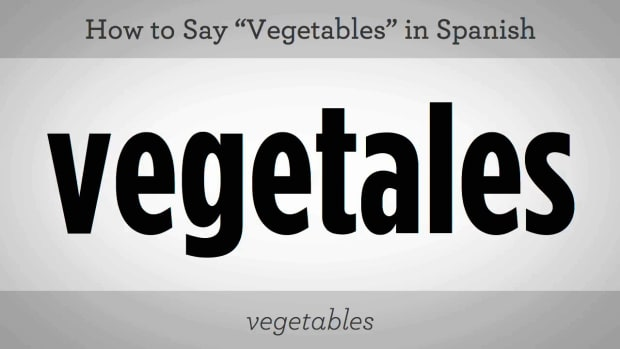 "T. How to Say ""Vegetables"" in Spanish Promo Image"
