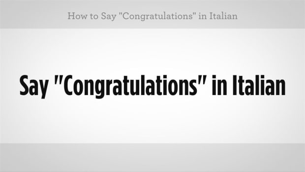 "ZW. How to Say ""Congratulations"" in Italian Promo Image"