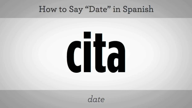 "X. How to Say ""Date"" in Spanish Promo Image"