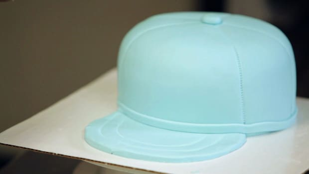 F. How to Make the Brim on a Baseball Cap Cake Promo Image