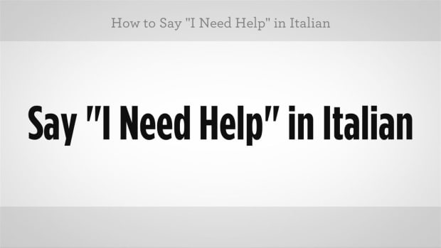 "ZZM. How to Say ""I Need Help"" in Italian Promo Image"