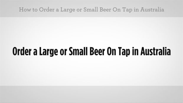 F. How to Order a Beer on Tap in Australian Slang Promo Image