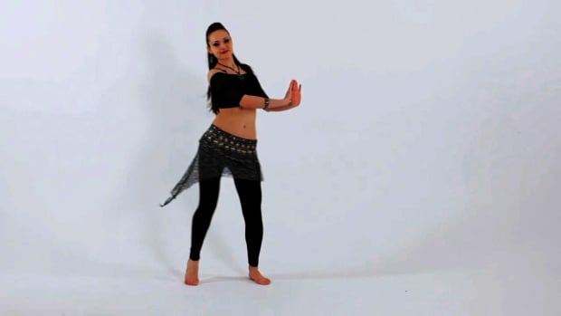 F. How to Do Opposite Hip Pushes in Belly Dancing Promo Image