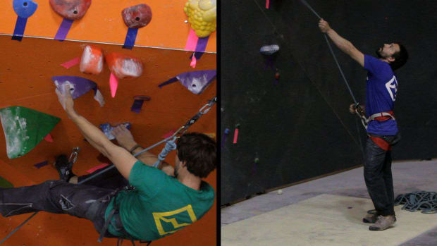 N. How to Lead Belay for Indoor Rock Climbing Promo Image
