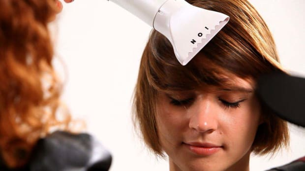P. How to Straighten Short Hair with a Blow Dryer Promo Image