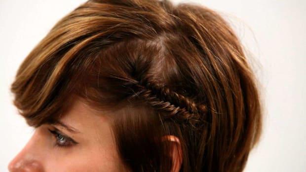 X. How to Fishtail Braid Short Hair, Part 1 Promo Image