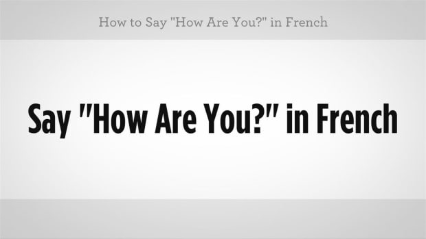 "S. How to Say ""How Are You"" in French Promo Image"