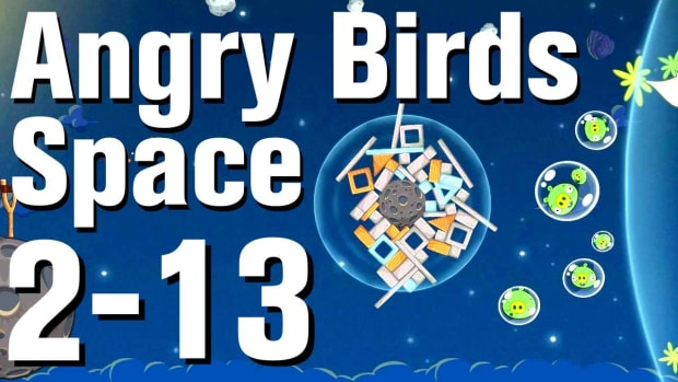 ZQ. Angry Birds: Space Walkthrough Level 2-13 Promo Image