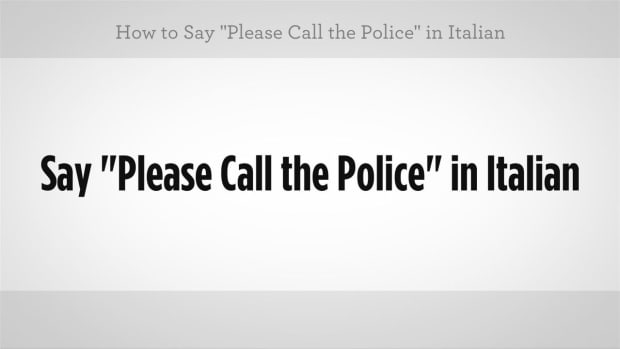 "ZZO. How to Say ""Please Call the Police"" in Italian Promo Image"