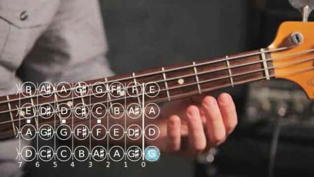 ZZB. How to Play an A Minor Scale on Bass Guitar Promo Image
