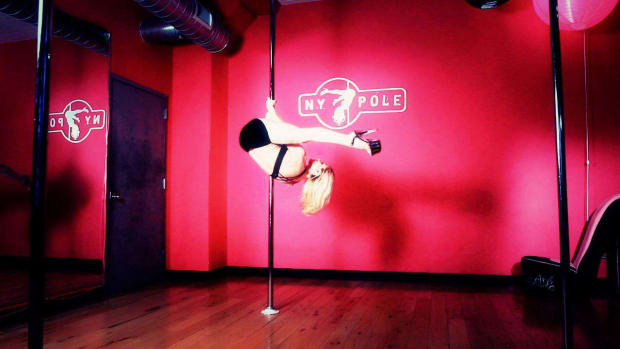 F. How to Do a Pole Dancing Invert Promo Image