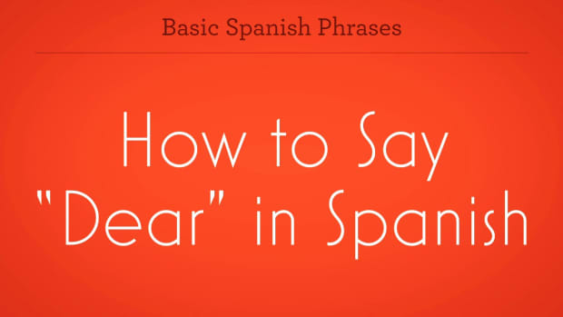 "ZU. How to Say ""Dear"" in Spanish Promo Image"