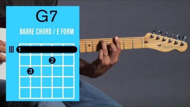 ZZZZN. How to Play a G7 Barre Chord on Guitar Promo Image