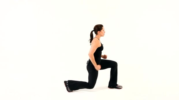 R. How to Do a Power Lunge for a Boot Camp Workout Promo Image