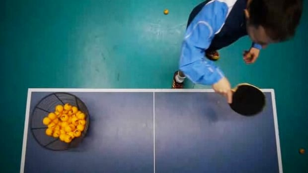 P. How to Do a Backhand Drop Shot in Table Tennis aka Ping Pong Promo Image