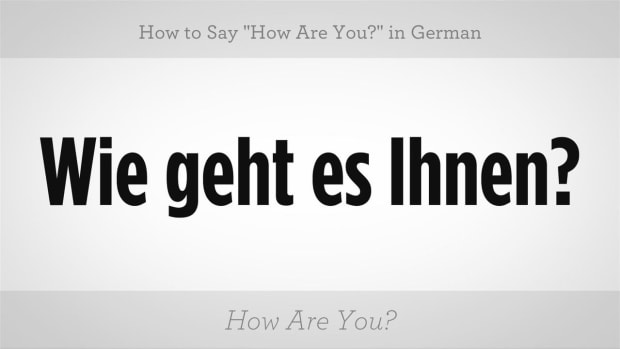 "U. How to Say ""How Are You?"" in German Promo Image"