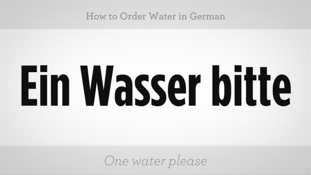 ZZZF. How to Order Water in German Promo Image